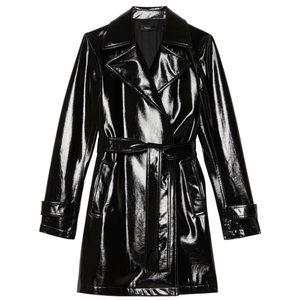 Carabello Black Vinyl Raincoat